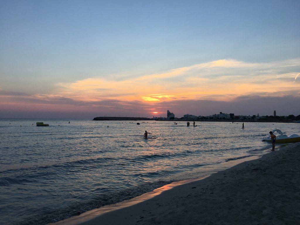 tramonto Torre san Giovanni