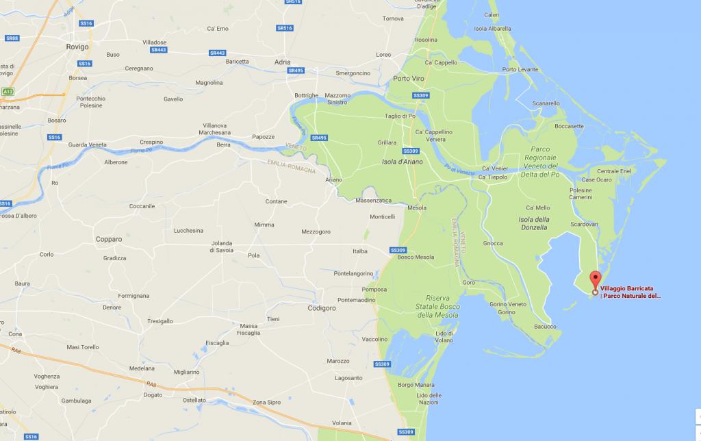 itinerario in moto delta del po'