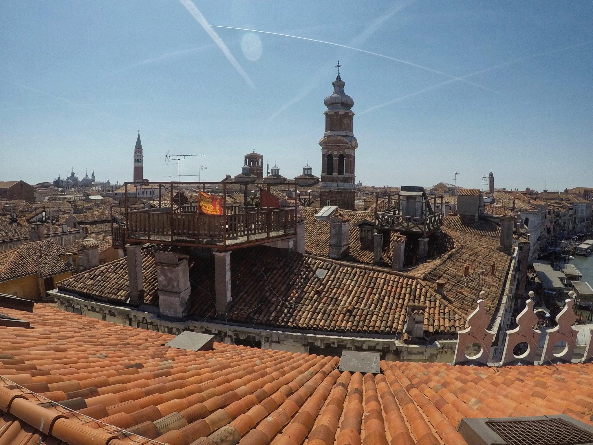 Vista Dalla Terrazza Fondaco Dei Tedeschi Su Venezia